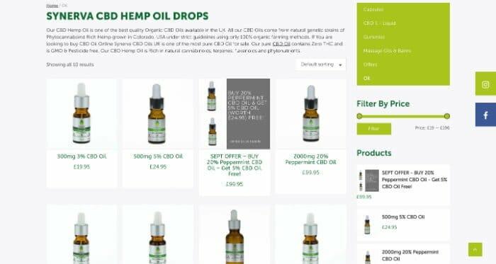Synerva CBD Oil Drops