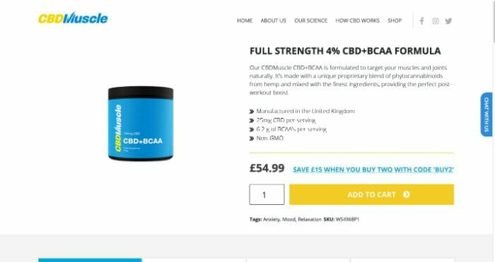 CBD Muscle Full Strength Formula