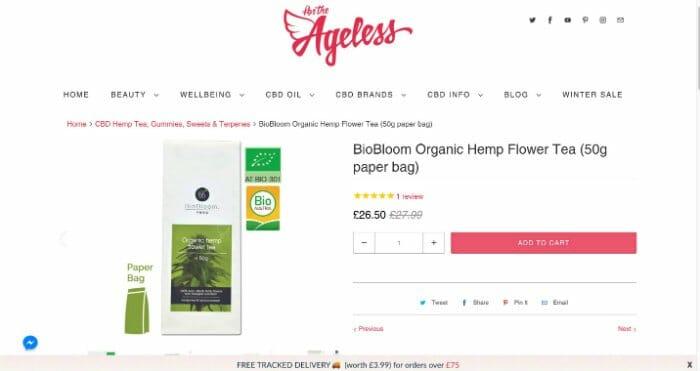 BioBloom Hemp Flower Tea