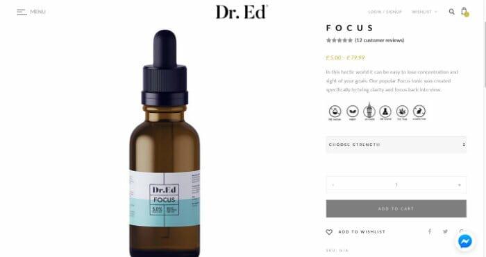 Dr. Ed CBD Oil Focus