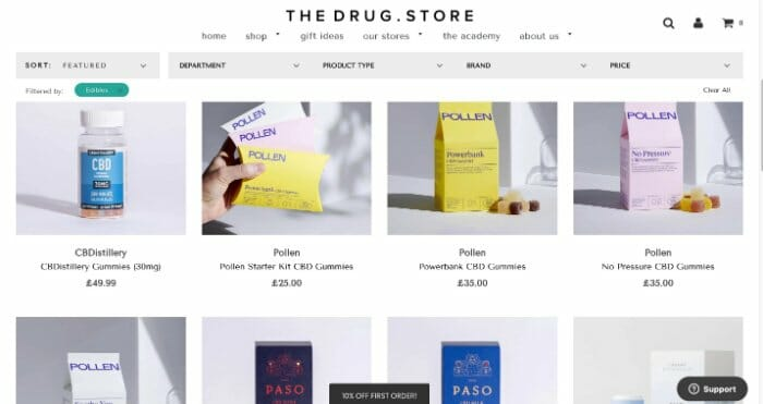 TheDrug.Store CBD Edibles