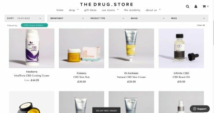 TheDrug.Store CBD Skincare