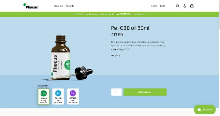 Phocus Pet CBD Oil