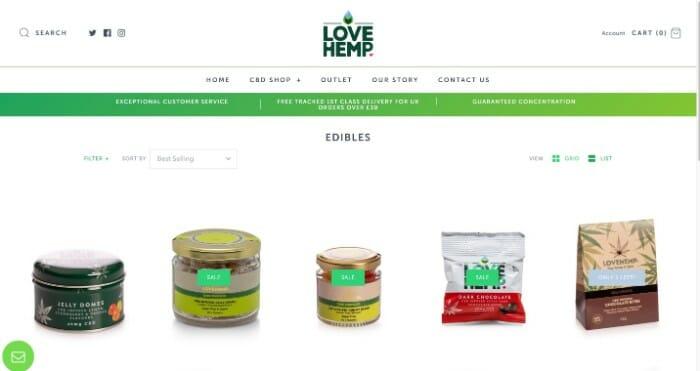 Love Hemp CBD edibles