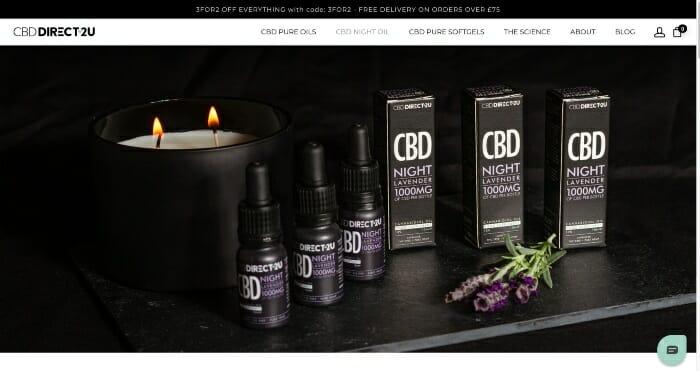 CBDDirect2U Night Oils