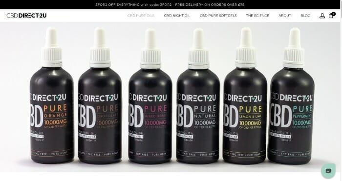 CBDDirect2U CBD Pure Oils