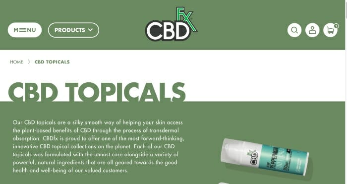 CBDfx Topicals