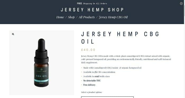 Jersey Hemp CBG Oils