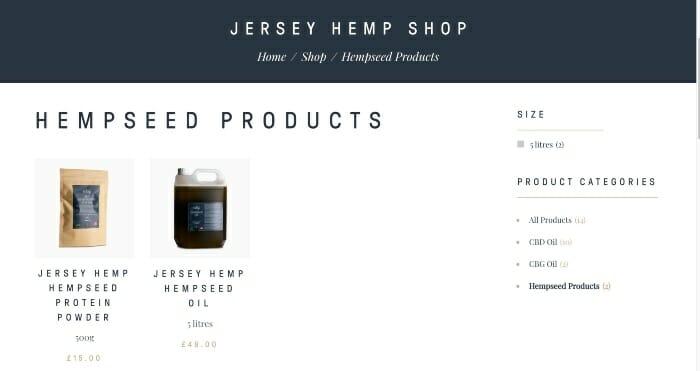 Jersey Hemp Hempseed Products