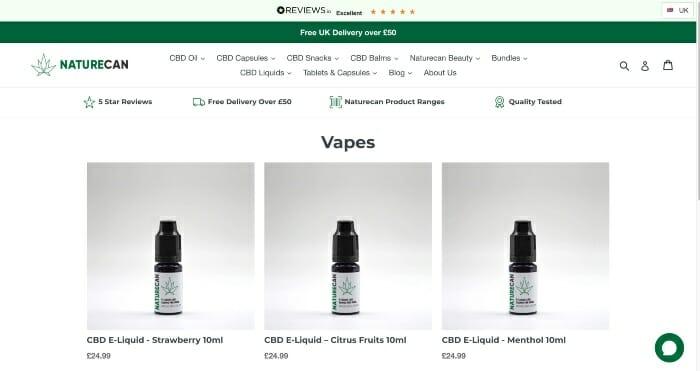 Naturecan CBD E-Liquids
