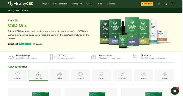 Vitality CBD Oils